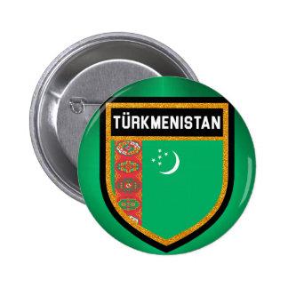 Bandera de Turkmenistán Chapa Redonda De 5 Cm