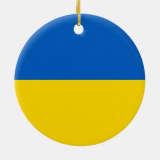 Bandera de Ucrania Ornamento De Navidad
