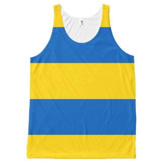 Bandera de Ucrania - bandera ucraniana - Camiseta De Tirantes Con Estampado Integral