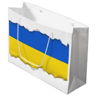 Bandera de Ucrania Bolsa De Regalo Grande