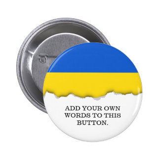 Bandera de Ucrania Chapa Redonda De 5 Cm