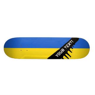 Bandera de Ucrania Monopatín 19,6 Cm
