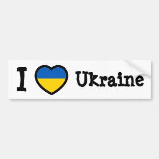 Bandera de Ucrania Pegatina De Parachoque