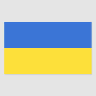 Bandera de Ucrania Pegatina Rectangular