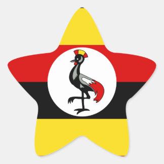 Bandera de Uganda Pegatina En Forma De Estrella