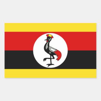Bandera de Uganda Pegatina Rectangular