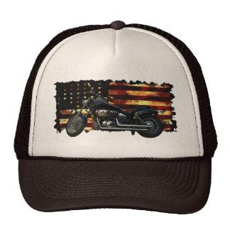 Bandera de unión, barras y estrellas, motocicleta, gorra