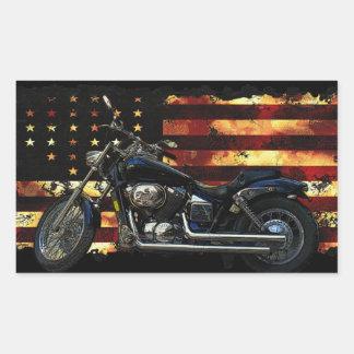 Bandera de unión, barras y estrellas, motocicleta pegatina rectangular