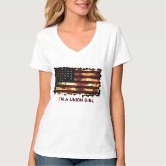 Bandera de unión, guerra civil, barras y camisetas