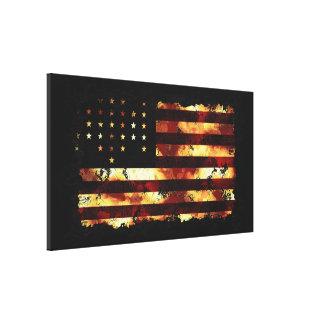 Bandera de unión, guerra civil, barras y estrellas impresión en lienzo estirada