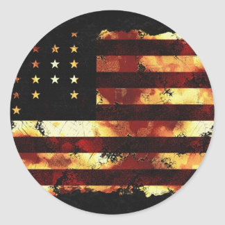 Bandera de unión, guerra civil, barras y estrellas pegatinas redondas