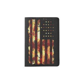 Bandera de unión, guerra civil, barras y estrellas porta pasaportes