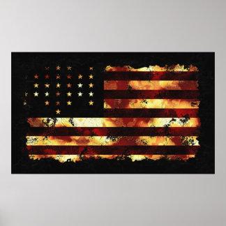 Bandera de unión, guerra civil, barras y estrellas impresiones