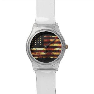 Bandera de unión, guerra civil, barras y estrellas relojes