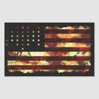 Bandera de unión, guerra civil, barras y pegatina rectangular