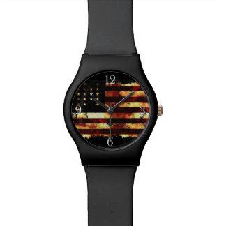 Bandera de unión, guerra civil, barras y reloj de mano