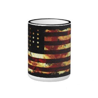Bandera de unión, guerra civil, barras y taza a dos colores