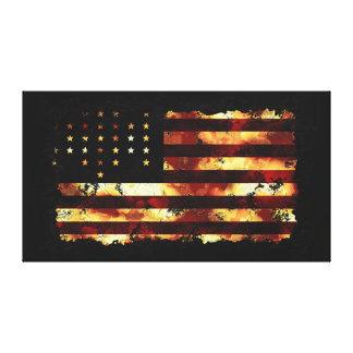 Bandera de unión, guerra civil, estrellas y rayas, lienzo envuelto para galerias