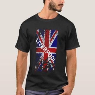 Bandera de Union Jack de la pintura de la peladura Camiseta