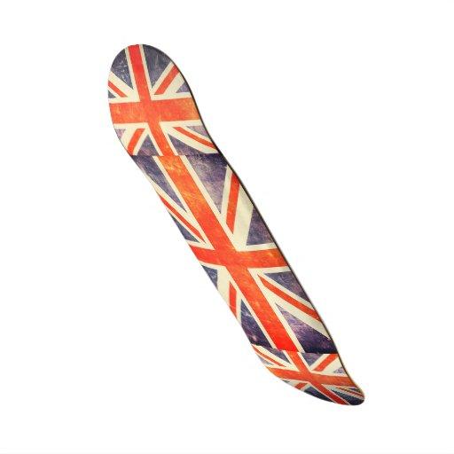Bandera de Union Jack del vintage Tablas De Skate