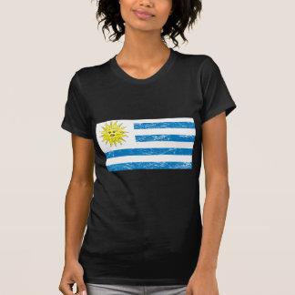 Bandera de Uruguay del vintage Camiseta