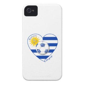 Bandera de URUGUAY FÚTBOL campeones del mundo 2014 iPhone 4 Carcasa