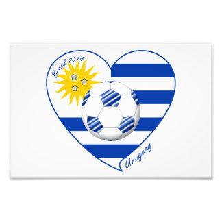 Bandera de URUGUAY FÚTBOL campeones del mundo 2014 Arte Fotográfico