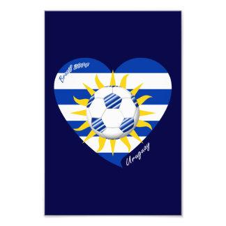 Bandera de URUGUAY FÚTBOL del equipo nacional 2014 Fotografías