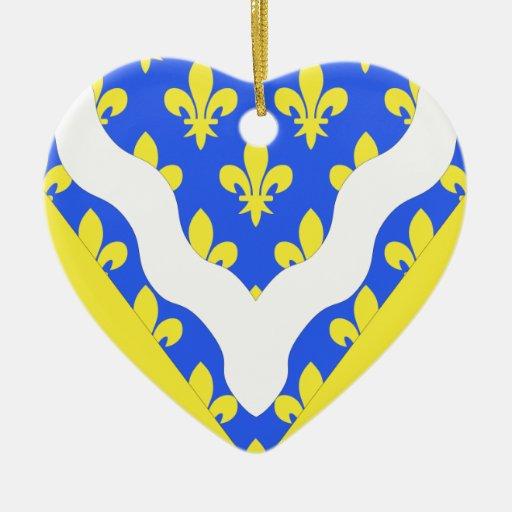 Bandera de Val-de-Marne, Francia Ornatos