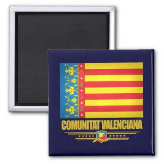 Bandera de Valencia Imán Cuadrado