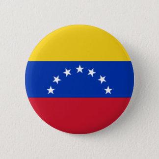Bandera de Venezuela, 7 Estrellas Chapa Redonda De 5 Cm