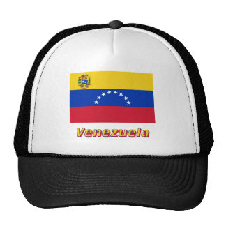 Bandera de Venezuela con nombre Gorra