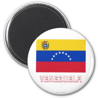Bandera de Venezuela con nombre Imanes Para Frigoríficos