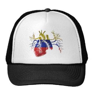 Bandera de Venezuela en corazón real Gorros