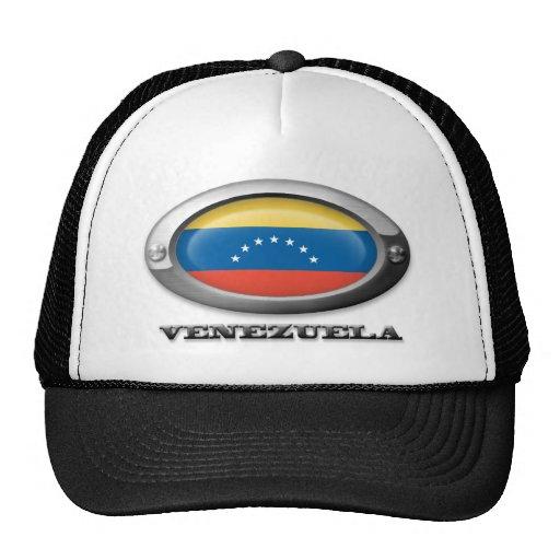 Bandera de Venezuela en el marco de acero Gorra