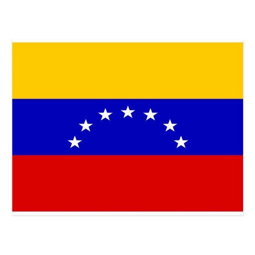 Bandera de Venezuela Tarjeta Postal