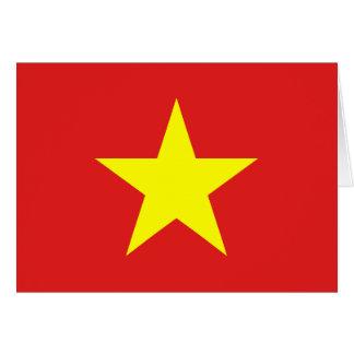 Bandera de Vietnam - tarjetas de felicitación