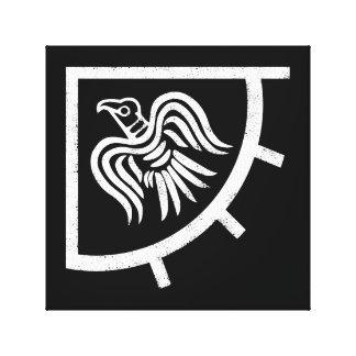 Bandera de Viking de la bandera del cuervo Lienzo