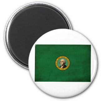 Bandera de Washington Imán Redondo 5 Cm
