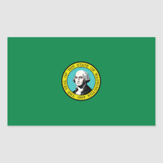 Bandera de Washington Rectangular Altavoz
