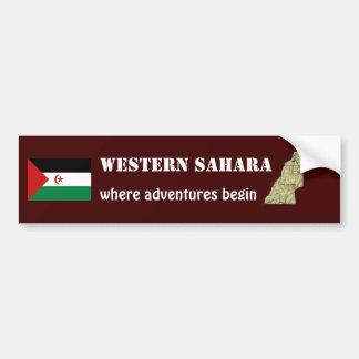 Bandera de Western Sahara + Pegatina para el Pegatina Para Coche