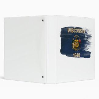 Bandera de Wisconsin Carpeta 2,5 Cm