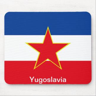 Bandera de Yugoslavia Alfombrillas De Ratón
