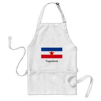 Bandera de Yugoslavia Delantal