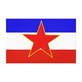 Bandera de Yugoslavia Impresiones En Lona Estiradas