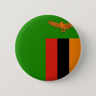 Bandera de Zambia en el Pin/la insignia del botón