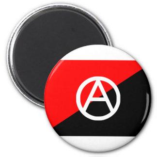 Bandera del anarquista con símbolo de A Imán