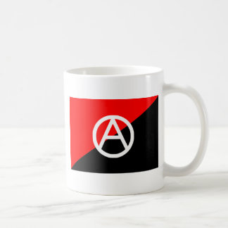 Bandera del anarquista con símbolo de A Taza
