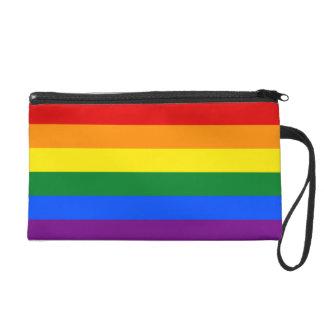 Bandera del arco iris bolso de fiesta