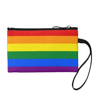 Bandera del arco iris clutch tipo monedero